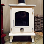 Eco 5kw Enamel Petit Multifuel defra approved Stove white